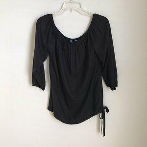 New Escapada Black 3/4 Sleeve Freya Top